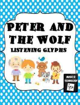 "Peter and the Wolf Listening Glyphs- Students practice their active listening skills while listening to the different character themes from the piece ""Peter and the Wolf"". As students listen to the them they color the parts of the character based on what they hear (loud vs soft; fast vs slow; like vs didn't like etc.)"