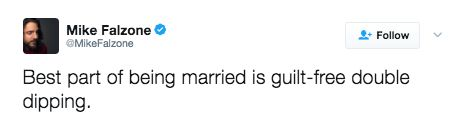 """""""I've been married for about 45 pounds."""""""