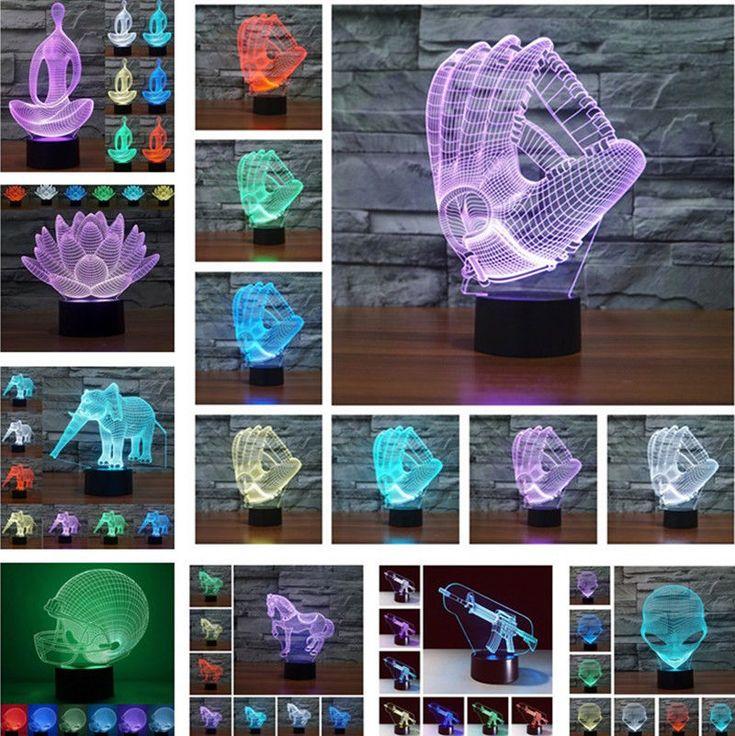 Inspirational Farbwechsel LED D Illusion USB Nachtlicht Schreibtischlampe Haus Bedside Dekor