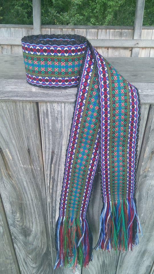 READY TO SHIP_ Ukrainian Woven Sash, Bukovynska Krajka, Ukrainian belt, Woven Belt for Ukrainian Embroidery shirt, Ethnic Sash, from Ukraine