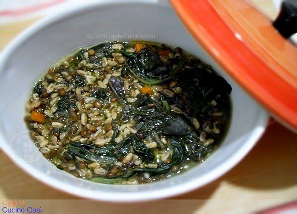 ©Oggi vi cucino così!: Minestra di Lenticchie con Farro e Bietole