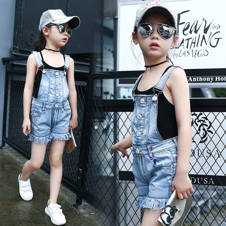 >> Click to Buy << Girls Summer Overall  short Jeans denim pant for for Girl Baby Kids Children Fashion Denim Romper Toddler Casual Pants #Affiliate