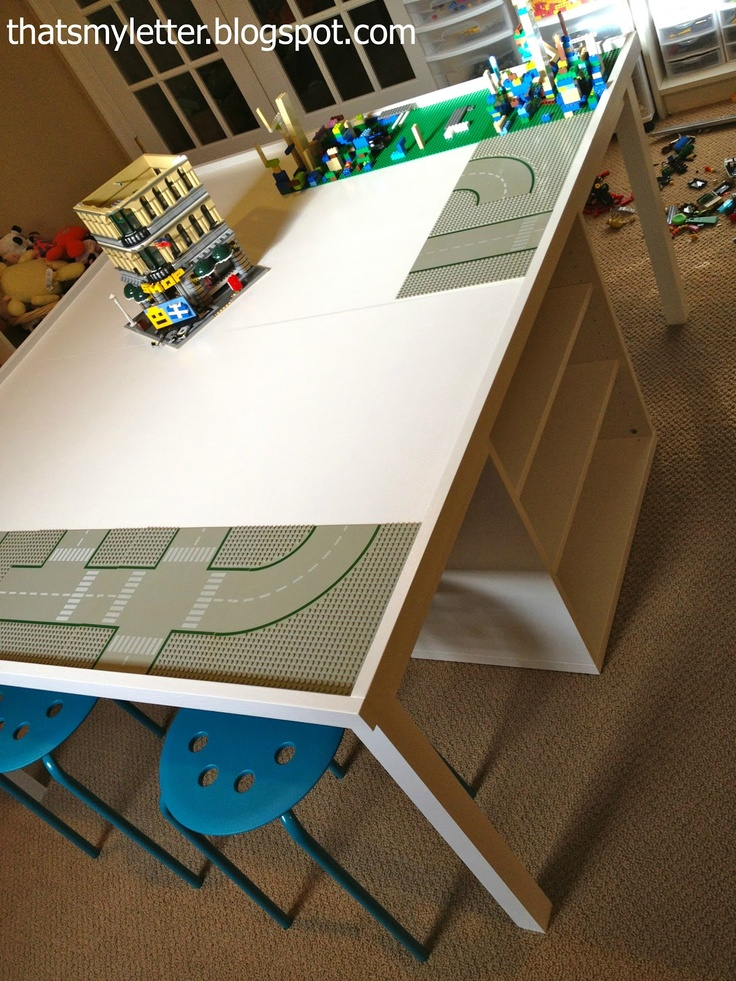 """That's My Letter: """"L"""" is for Lego Table, diy lego play table"""