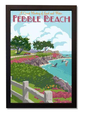 Pebble Beach - limited edition print by Steve Thomas