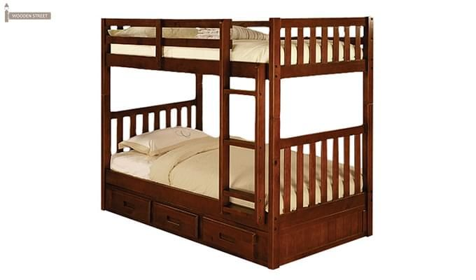 Buy Garfield Bunk Bed (Dark Teak Finish) online in India with best deals and offers. Choose from wide range of amazing bunk beds online at great discount from Wooden Street. Bunk beds are available in different sizes and style to full fill all your requirements. Visit : https://www.woodenstreet.com/bunk-beds