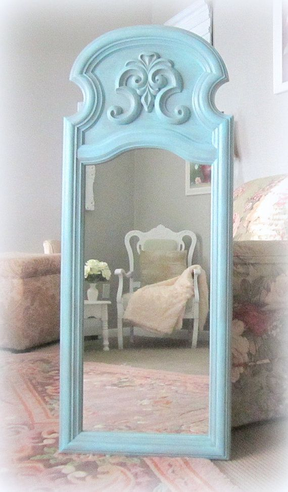 Baby Girl Nursery Decor Shabby Chic Mirror For by RevivedVintage, $229.00