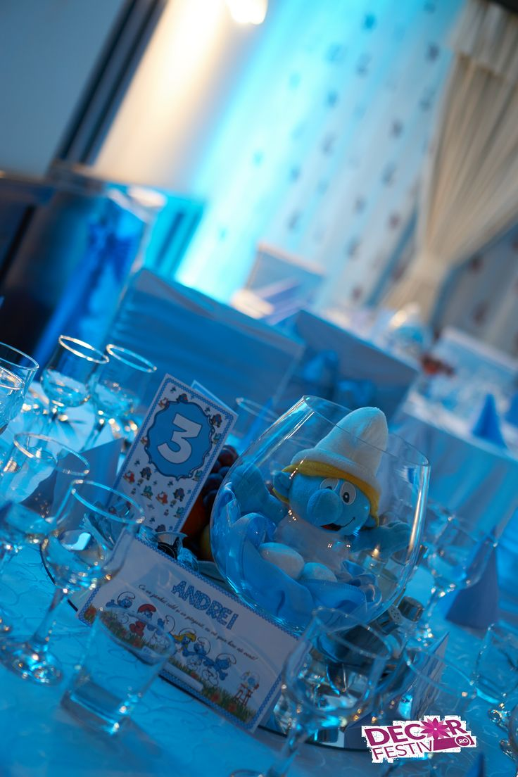 #smurfcenterpiece #smurfparty #strumfi #boteztematic