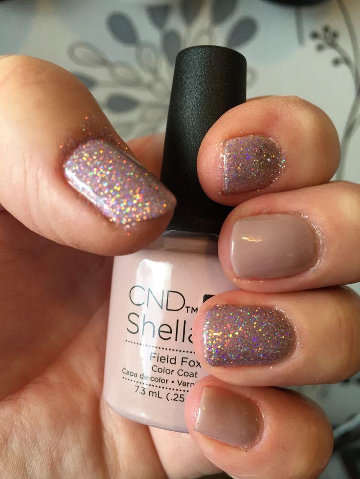 CND Shellac Field Fox & Additives Glitter Hummingbird lovely combination!