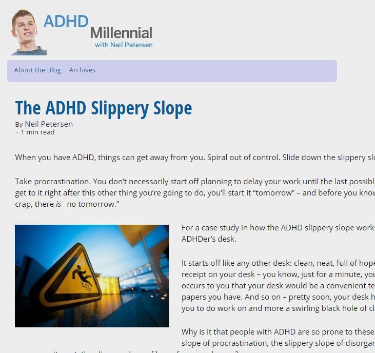 ADHD Millennial - Blogger Neil Petersen on Health Central