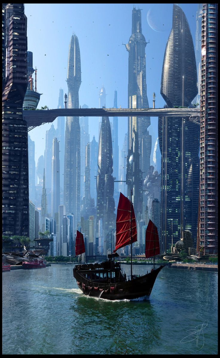 Futurictic City 7 by Scott Richard by rich35211.deviantart.com on @deviantART
