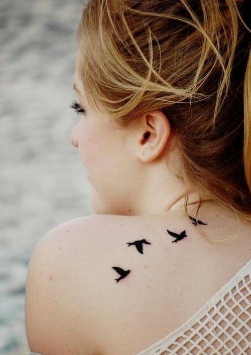 minimalist tattoo birds