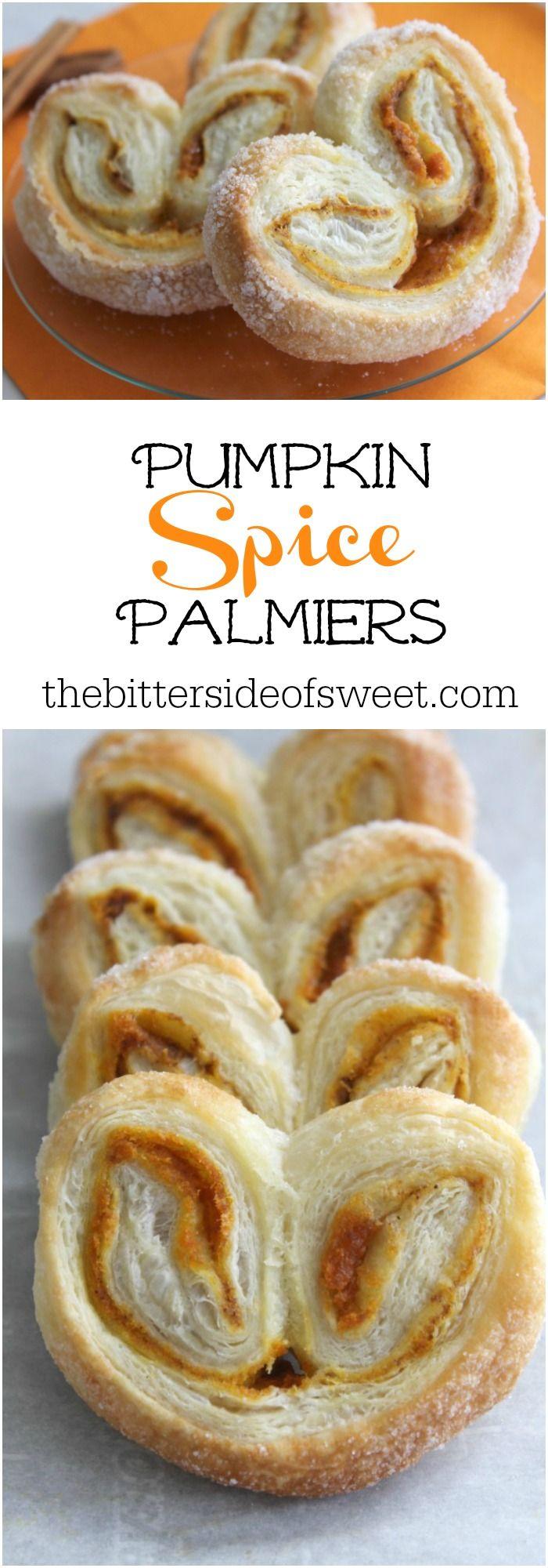 Pumpkin Spice Palmiers | The Bitter Side of Sweet