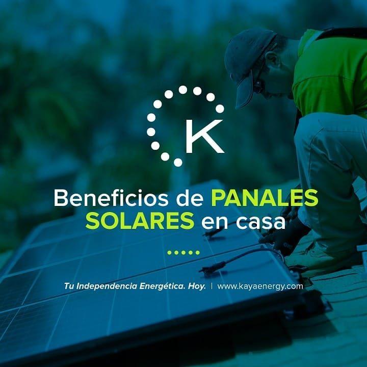 Estos son los beneficios que aportan los paneles solares en casa  reducción de la energía que se consume reduciendo la factura de la luz o el gas entre otros Visítanos y cotiza con nosotros en www.kayaenergy.com o escríbenos a Gosolar@kayaenergy.com