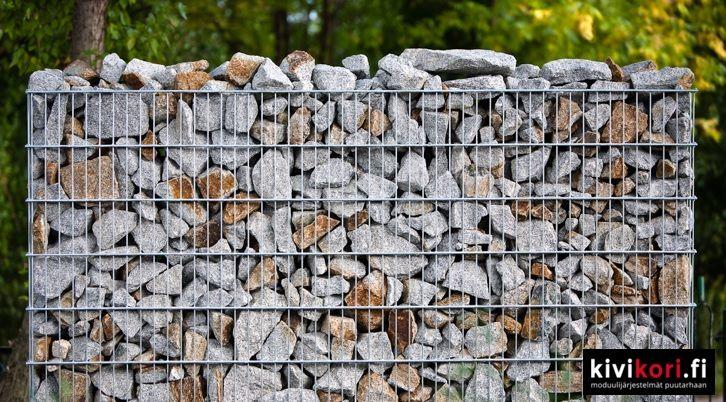 #aita #kivikoriaita #kivikori #fence #rock #gabions #greendesign #kun sisustat puutarhaasi