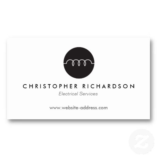 17 Best images about Business Cards for Electricians, Electrical ...