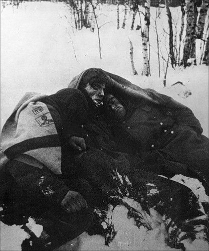 Frozen alive - German`s at Stalingrad