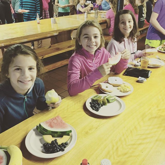 *TBT* Having breakfast last summer at gymnastics camp with these girls! #FriendsForever #ilovegymnastics #eatinghealthy