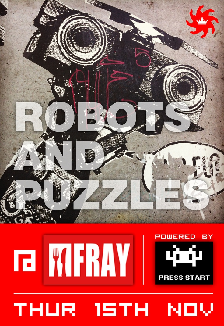 Robots & Puzzles Video Game Night at the Fray, Nov 15, 8pm https://www.facebook.com/events/452836561419258/