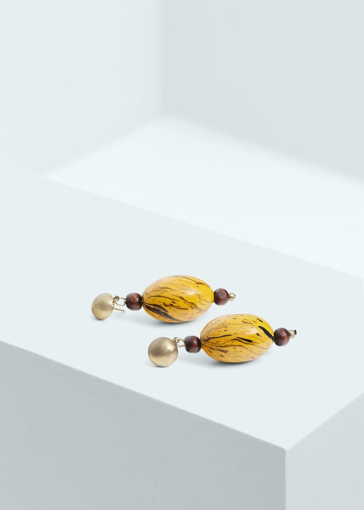 Серьги с комбинированными камнями