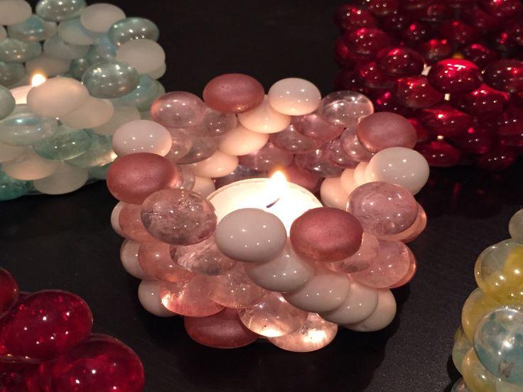 Glass Beads Tea Light Candle Holder 2 Pieces 1 Pair Halloween Thanksgiving