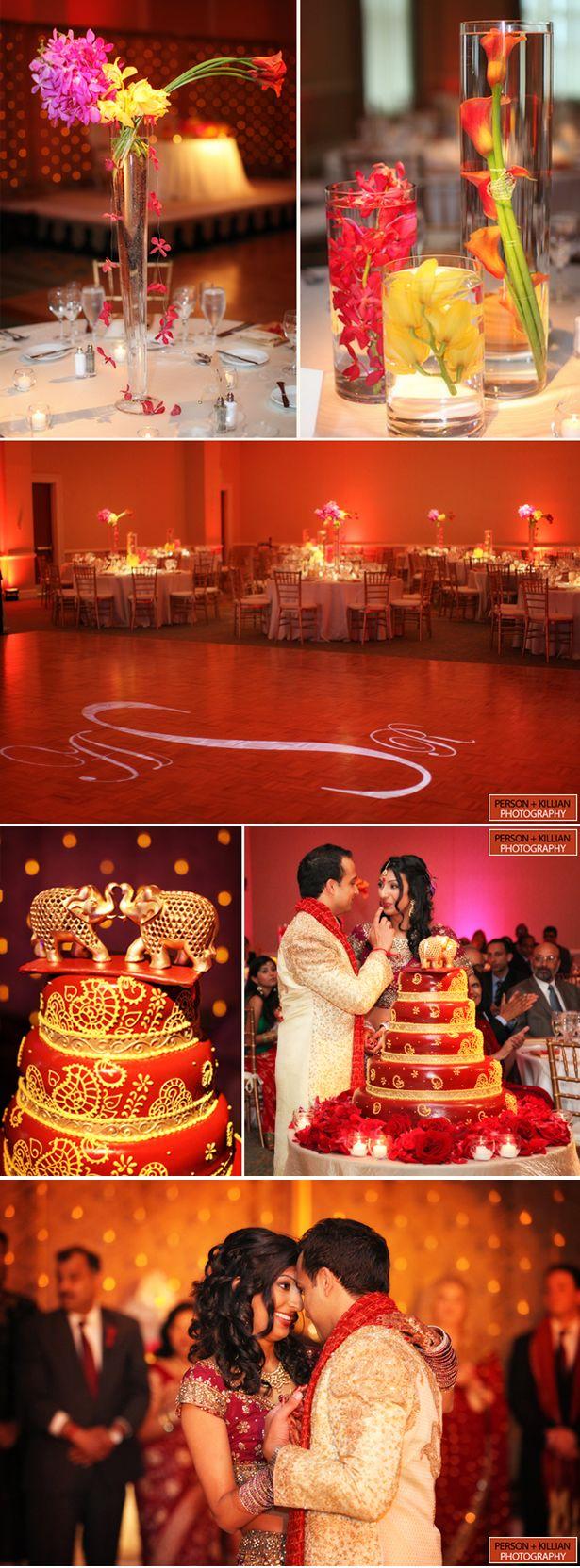 A vibrant wedding celebration inspired by rich Indian tradition and culture in Bostom, MA {Person + Killian Photography}