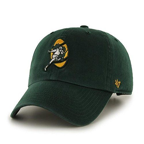 NFL Green Bay Packers '47 Brand Green Old School Logo Clean Up Adjustable Hat
