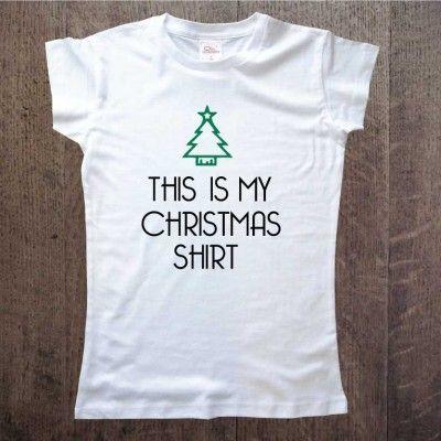 christmas-shirt koszulka damska idealna na prezent this is my christmas shirt www.ddshirt.pl