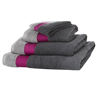 Superior Ben De Lisi Home Grey Contrasting Header Cotton Towel