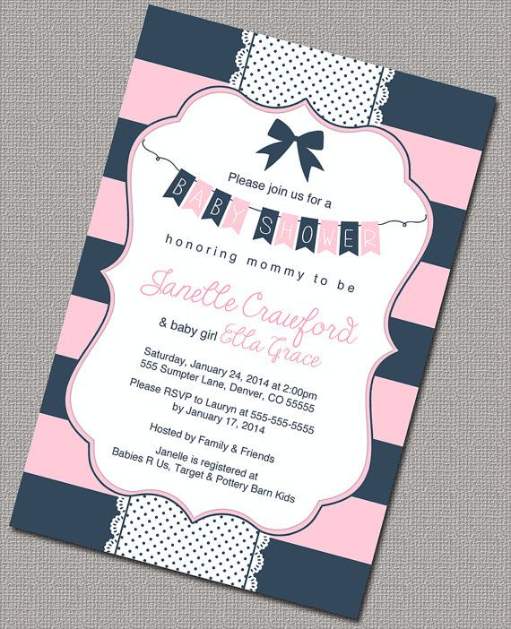 25+ best ideas about navy baby showers on pinterest   sailor, Baby shower invitations
