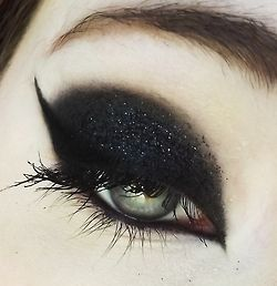 smokey eyeshadow-although I would probably do red eye liner instead for Halloween