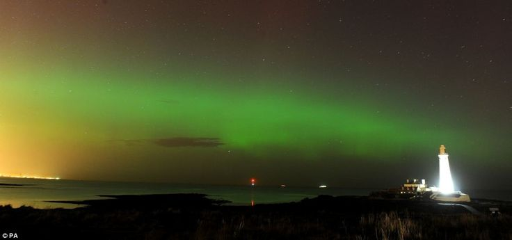 The skies were lit up red and green last night as a spectacular display of the Northern Lights illuminated parts of the country FEB 28 14, UK