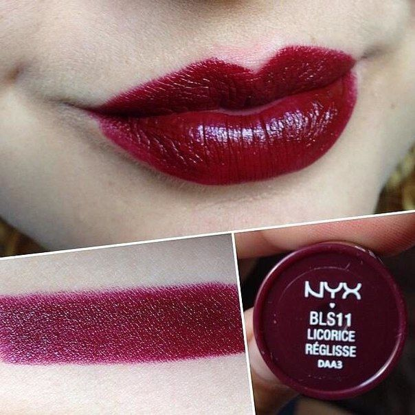 NYX Butter lipstick in Licorice.