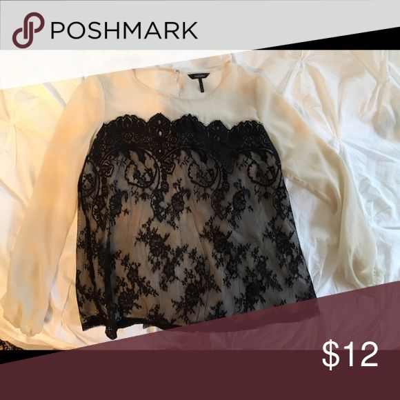 Gorgeous Daisy Fuentes sheer and lace shirt. Size small, EUC. Daisy Fuentes brand from Kohls. Daisy Fuentes Tops Blouses