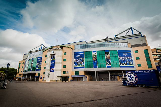 Stamford Bridge, home ground of the Chelsea Football Club