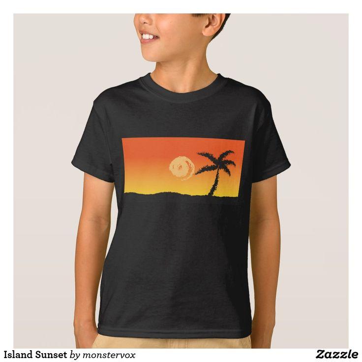 Island Sunset T-Shirt #Island #Sunset #Ocean #Travel #Shirt #Tshirt #Tee #Fashion