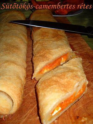 Házias konyha: Sütőtökös-camembertes rétes