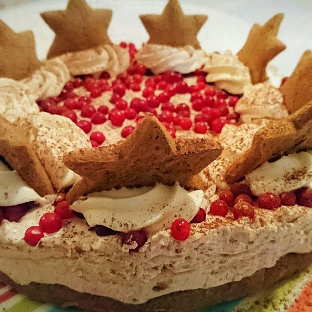 Iloinen juustokakku: Piparkakkutäytteinen juustokakku joulupöytään