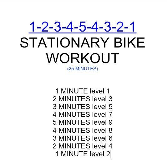 Exercise Bike Hiit: Best 25+ Bike Workouts Ideas On Pinterest