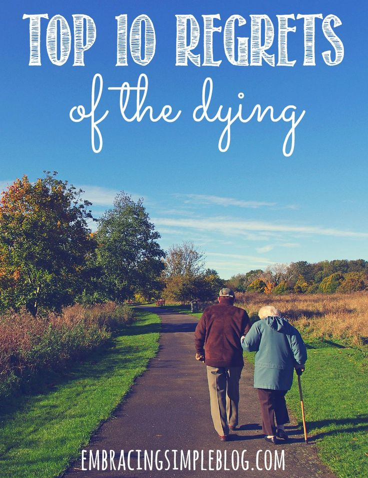 Life is too short to be anything but happy! Click to read the top 10 regrets of the dying as a reminder to live well and that life is what you make of it!