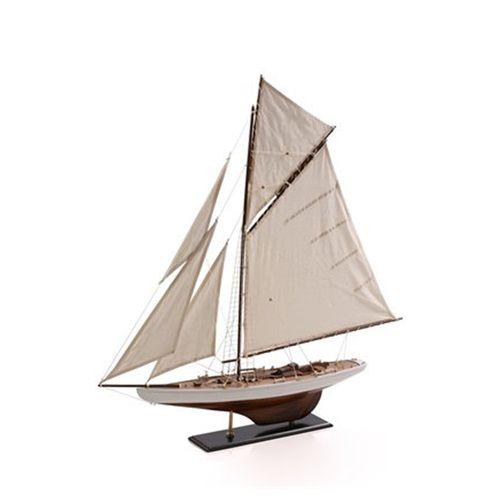 Decorative Wooden Sailboat Model