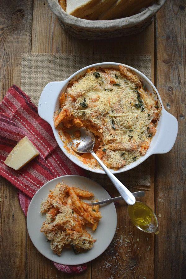 Tomato & Mozzarella Baked Penne
