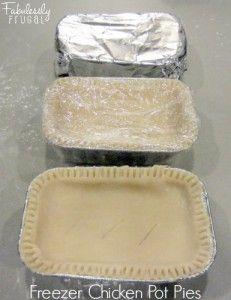 Freezer Meal Recipes: Chicken Pot Pies   Recipe