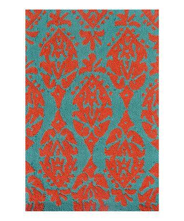 Teal Amp Orange Maracas Rug Look At Pop And Patterns