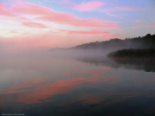 Misty pink sunrise by KrystynaAnnaMaria