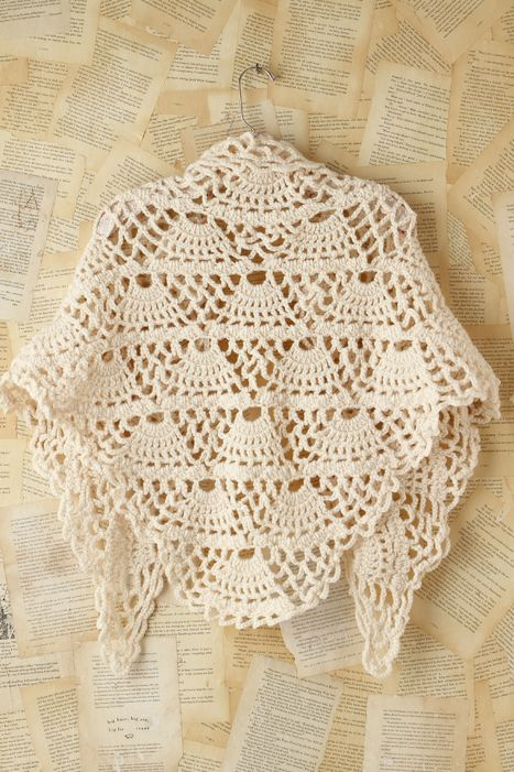 Shell Pattern Shawl, free crochet pattern