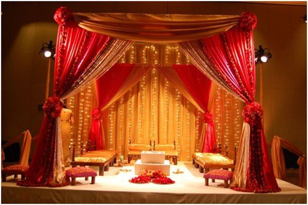 #BookingEvents #Indian #Wedding #Stage #Decoration Stage Decoration For All: Indian Wedding Stage Decorations Pics