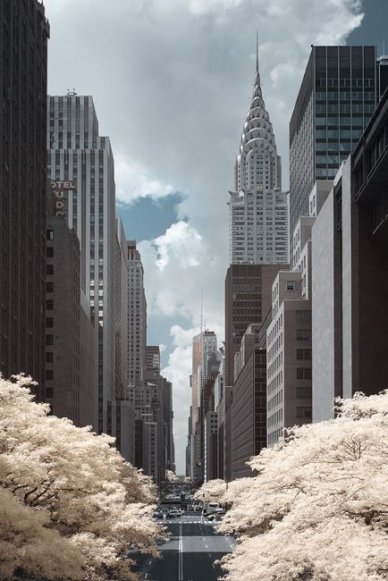 NYC. Manhattan - Infrared photo