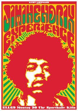 Jimi Hendrix Fillmore West Concert Poster