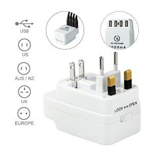 Amazon.com: Yubi Power 4 USB Charging Port (5a) All in One Universal Worldwide Travel Wall Charger Ac Power Au Uk Us Eu Plug Adapter: Electronics