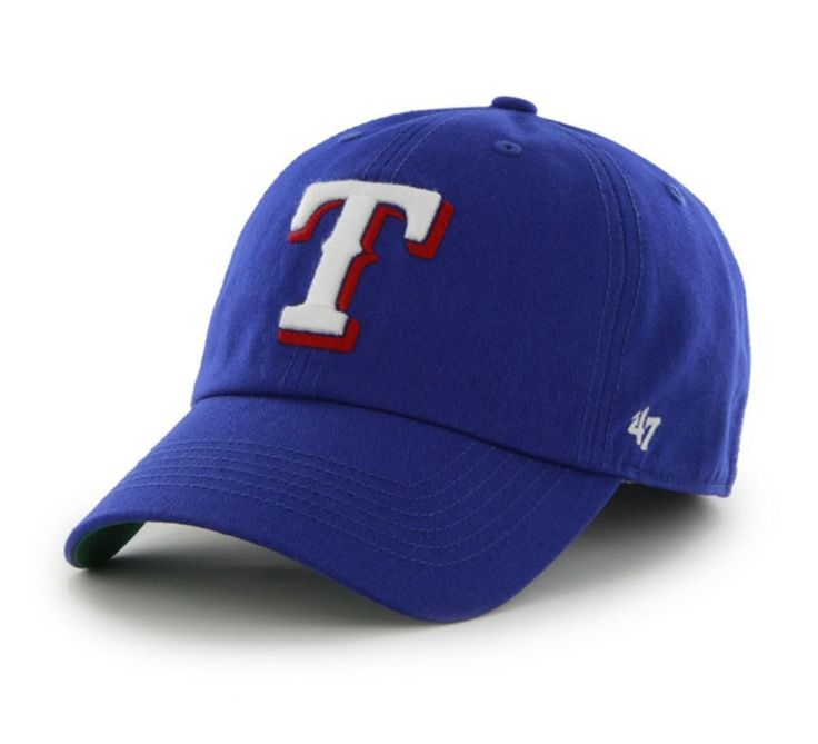 Texas Rangers 47 Brand Blue The Franchise Fitted Hat Cap